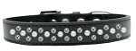 Sprinkles Dog Collar Pearl and AB Crystals Size 12 Black