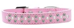 Sprinkles Dog Collar Pearl and AB Crystals Size 12 Light Pink