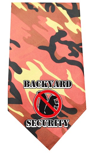 Back Yard Security Screen Print Bandana Orange Camo