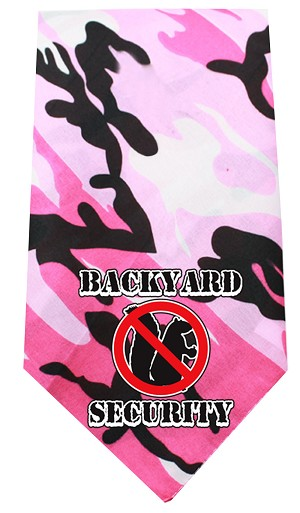 Back Yard Security Screen Print Bandana Pink Camo