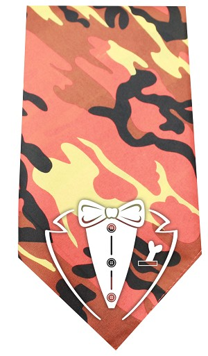 Tuxedo Screen Print Bandana Orange Camo