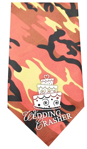 Wedding Crasher Screen Print Bandana Orange Camo