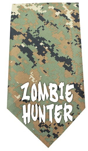 Zombie Hunter Screen Print Bandana Digital Camo