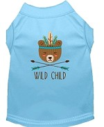 Wild Child Embroidered Dog Shirt Baby Blue Sm (10)