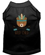 Wild Child Embroidered Dog Shirt Black Sm (10)