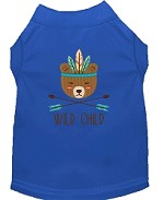 Wild Child Embroidered Dog Shirt Blue Sm (10)