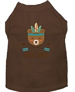 Wild Child Embroidered Dog Shirt Brown Sm (10)