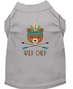 Wild Child Embroidered Dog Shirt Grey Sm (10)