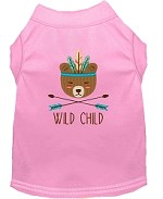 Wild Child Embroidered Dog Shirt Light Pink Sm (10)