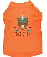 Wild Child Embroidered Dog Shirt Orange Sm (10)
