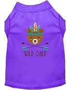 Wild Child Embroidered Dog Shirt Purple Sm (10)
