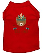 Wild Child Embroidered Dog Shirt Red Sm (10)