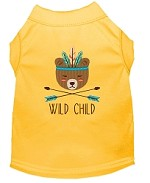 Wild Child Embroidered Dog Shirt Yellow Sm (10)