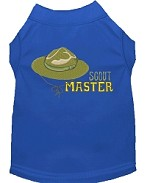 Scout Master Embroidered Dog Shirt Blue Sm (10)