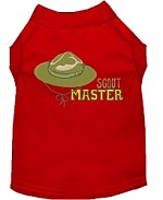 Scout Master Embroidered Dog Shirt Red Sm (10)