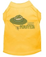Scout Master Embroidered Dog Shirt Yellow Sm (10)