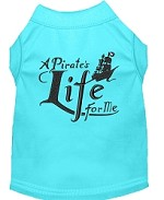 A Pirate's Life Embroidered Dog Shirt Aqua Sm (10)
