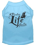 A Pirate's Life Embroidered Dog Shirt Baby Blue Sm (10)