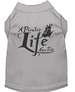 A Pirate's Life Embroidered Dog Shirt Grey Sm (10)