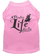 A Pirate's Life Embroidered Dog Shirt Light Pink Sm (10)