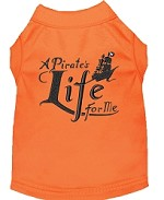 A Pirate's Life Embroidered Dog Shirt Orange Sm (10)