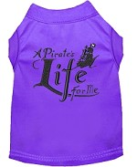 A Pirate's Life Embroidered Dog Shirt Purple Sm (10)