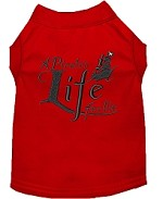 A Pirate's Life Embroidered Dog Shirt Red Sm (10)