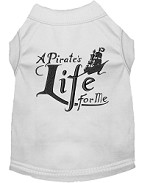 A Pirate's Life Embroidered Dog Shirt White Sm (10)