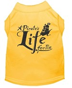A Pirate's Life Embroidered Dog Shirt Yellow Sm (10)