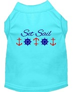 Set Sail Embroidered Dog Shirt Aqua Sm (10)