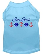 Set Sail Embroidered Dog Shirt Baby Blue Sm (10)