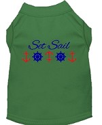 Set Sail Embroidered Dog Shirt Green Sm (10)