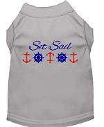 Set Sail Embroidered Dog Shirt Grey Sm (10)