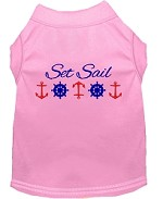 Set Sail Embroidered Dog Shirt Light Pink Sm (10)