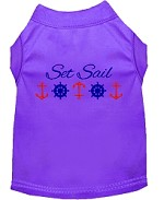Set Sail Embroidered Dog Shirt Purple Sm (10)