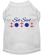 Set Sail Embroidered Dog Shirt White Sm (10)