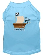 Poop Deck Embroidered Dog Shirt Baby Blue Sm (10)