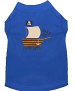 Poop Deck Embroidered Dog Shirt Blue Sm (10)