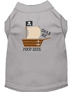 Poop Deck Embroidered Dog Shirt Grey Sm (10)