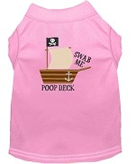 Poop Deck Embroidered Dog Shirt Light Pink Sm (10)