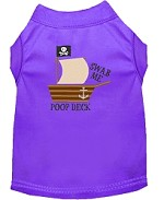 Poop Deck Embroidered Dog Shirt Purple Sm (10)