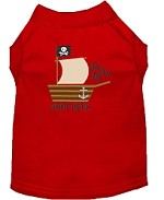 Poop Deck Embroidered Dog Shirt Red Sm (10)
