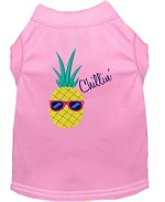 Pineapple Chillin Embroidered Dog Shirt Light Pink Sm (10)