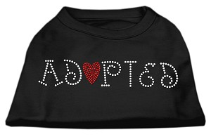 Adopted Rhinestone Shirt Black XXL