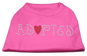Adopted Rhinestone Shirt Bright Pink M (12)