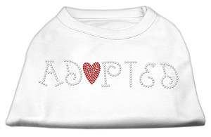 Adopted Rhinestone Shirt White M