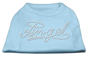 Angel Rhinestud Shirt Baby Blue XXL (18)