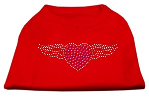 Aviator Rhinestone Shirt Red XXXL