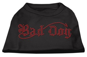 Bad Dog Rhinestone Shirts Black XXL