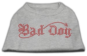Bad Dog Rhinestone Shirts Grey M (12)